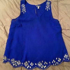 Royal blue blouse